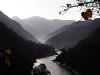 Rishikesh upstream ganga, India - at dawn or dusk